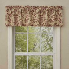 Rustic Floral Valance