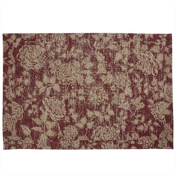 Rustic Floral Rug 4' x 6'