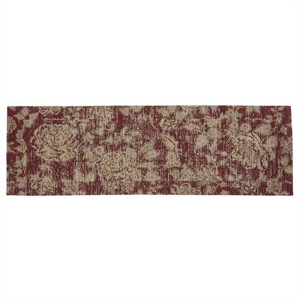 Rustic Floral Rug Runner 2' x 6'