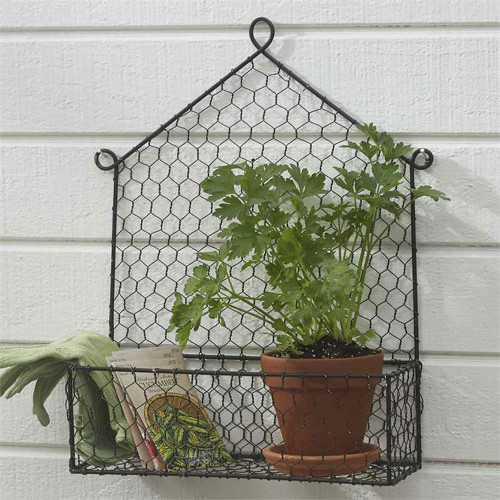 Chicken Wire Wall Caddy