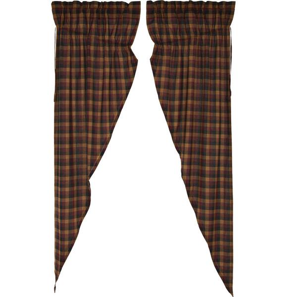 Primitive Check Long Prairie Curtain Set