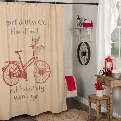 Farmer's Market Flower Market Shower Curtain