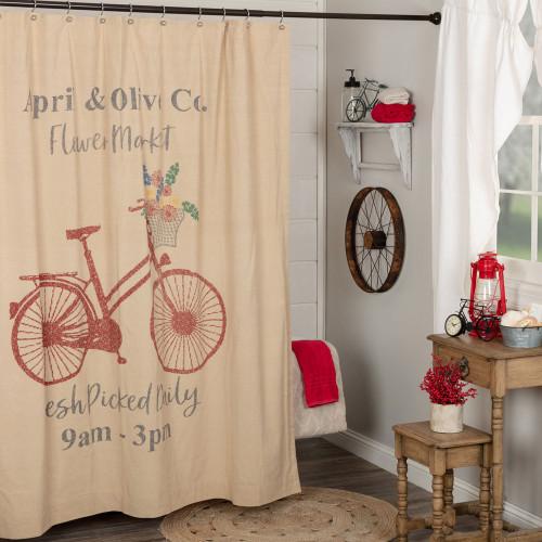 Farmer's Market Flower Market Shower Curtain