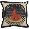 "Farmer's Market Fresh Watermelon Pillow 12"" x 12"""