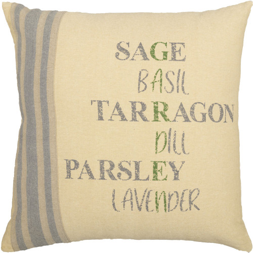 "Farmer's Market Garden Pillow 18"" x 18"""