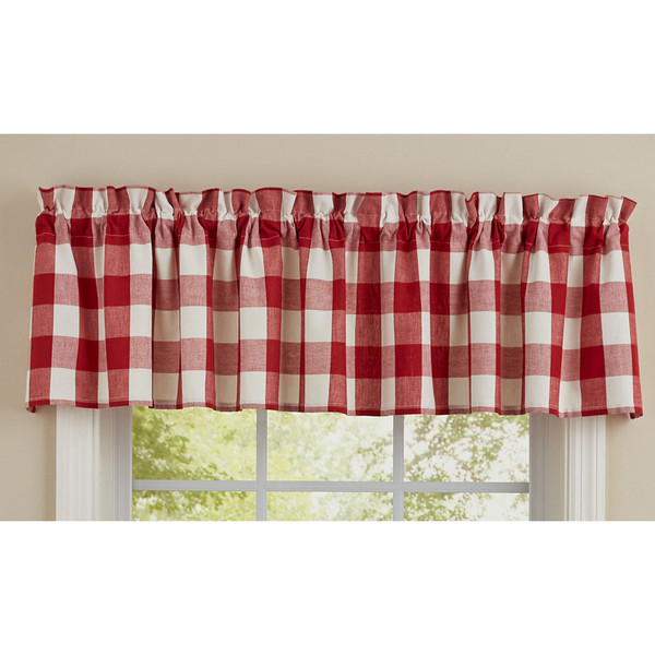 Wicklow Valance - Red and Cream