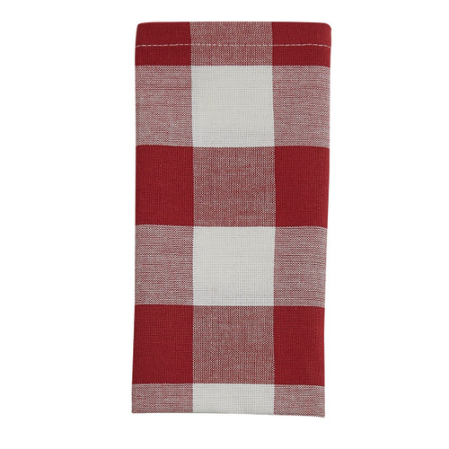 Wicklow Napkin Set - Red and Cream