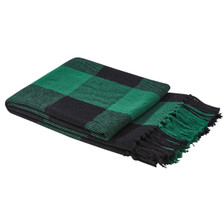 Wicklow Check Throw - Forest