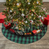"""Wicklow Check Tree Skirt 52"""" - Forest"""