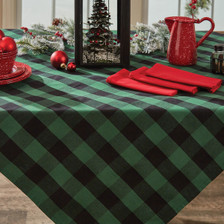 Wicklow Check Table Cloth - Forest