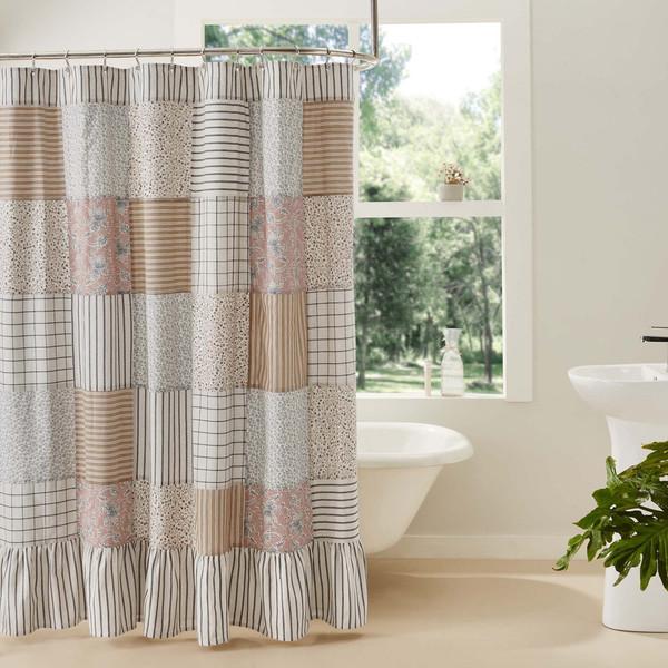 Kaila Patchwork Shower Curtain
