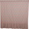 Kaila Floral Ruffled Shower Curtain