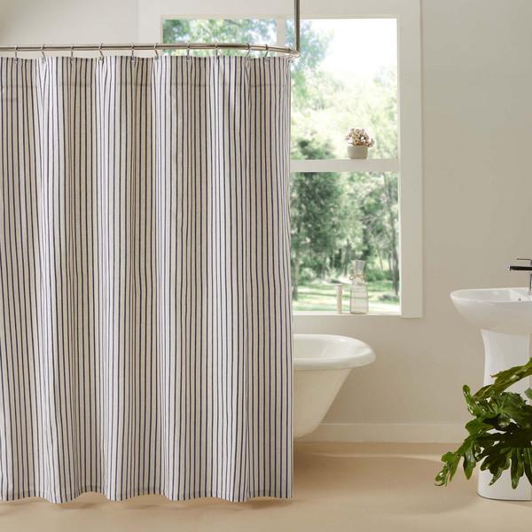 Kaila Ticking Stripe Shower Curtain