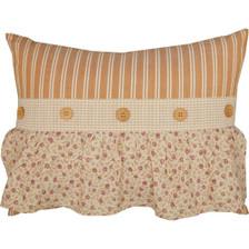 "Camilia Ruffled Pillow 14"" x 18"""