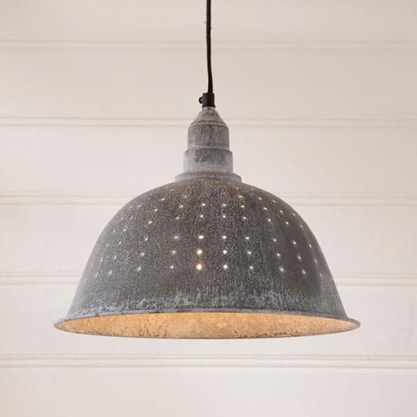 Colander Pendant Light in Weathered Zinc