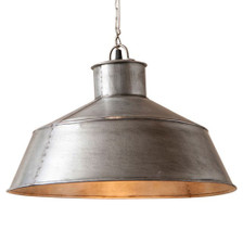 Springhouse Pendant in Brushed Tin