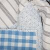 Annie Blue Floral Patch Quilt - Close-up