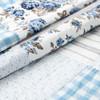 Annie Blue Floral Patch Quilt