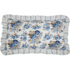 Annie Blue Floral Ruffled Quilted King Sham