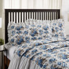 Annie Blue Floral Ruffled Quilted Sham - King