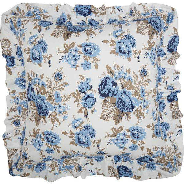 Annie Blue Floral Fabric Euro Sham
