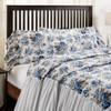 Annie Blue Floral Ruffled King Pillowcase Set