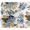 Annie Blue Floral Ruffled Pillowcase Set - Close-up