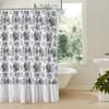 Annie Blue Floral Ruffled Shower Curtain