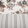 Annie Portabella Floral Ruffled Shower Curtain - Close-up