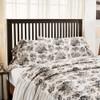 Annie Portabella Floral Ruffled King Pillowcase Set