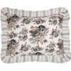 Annie Portabella Floral Ruffled Standard Quilted Sham