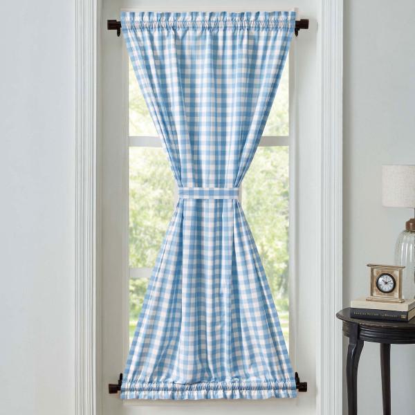 Annie Buffalo Blue Check Door Panel Curtain