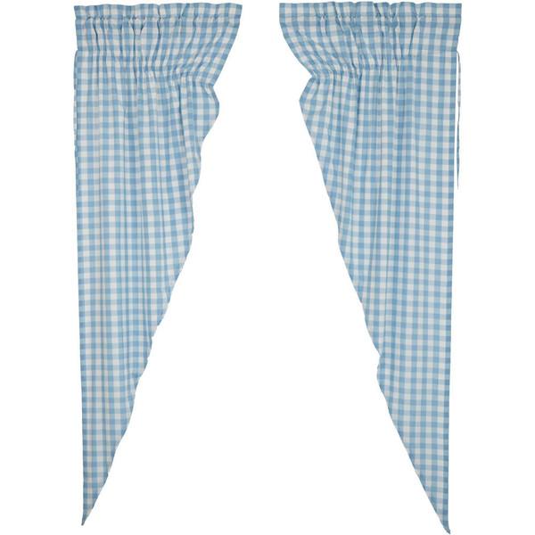 Annie Buffalo Blue Check Long Prairie Curtain Set