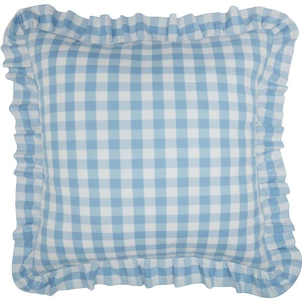 Annie Buffalo Blue Check Fabric Euro Sham