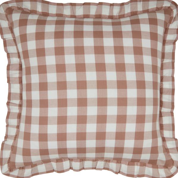 Annie Portabella Check Ruffled Pillow 18x18