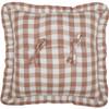 Annie Portabella Check Ruffled Pillow 18x18 - Back