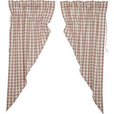 Annie Buffalo Portabella Check Prairie Curtain Set