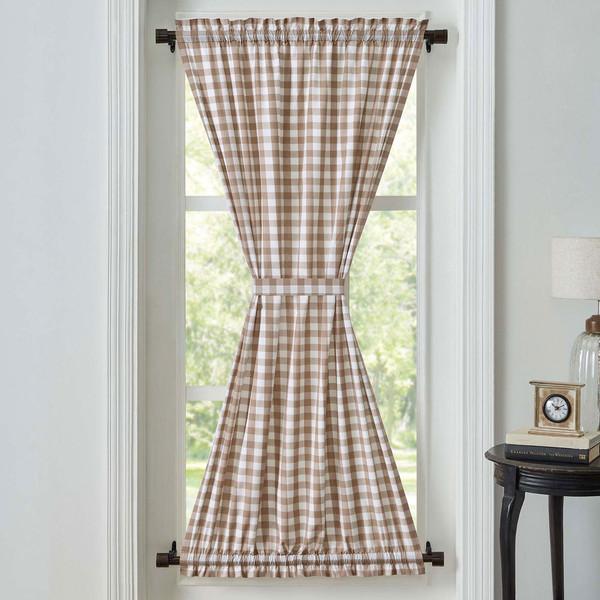 Annie Buffalo Portabella Check Door Panel Curtain