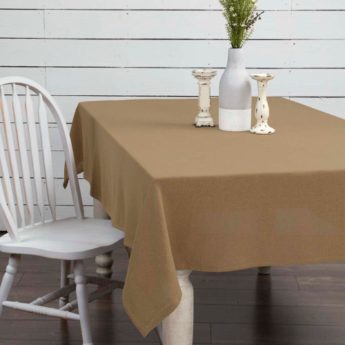 Burlap Natural Table Cloth