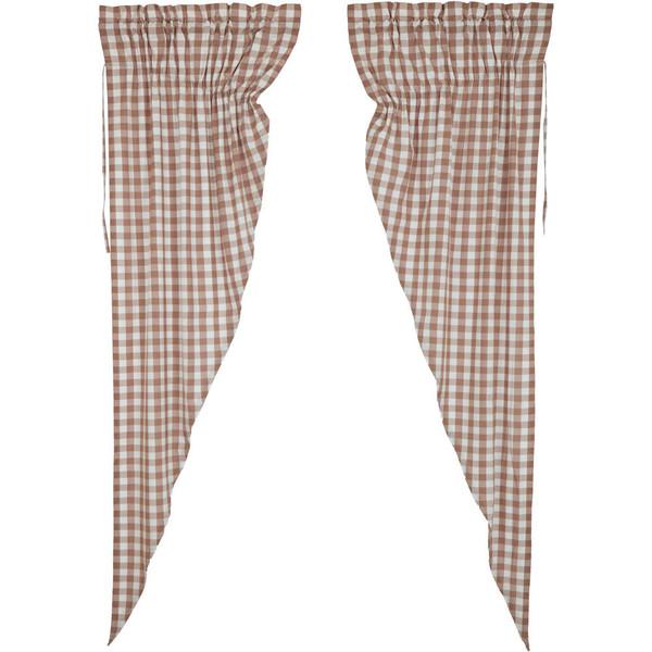 Annie Buffalo Portabella Check Long Prairie Curtain Set