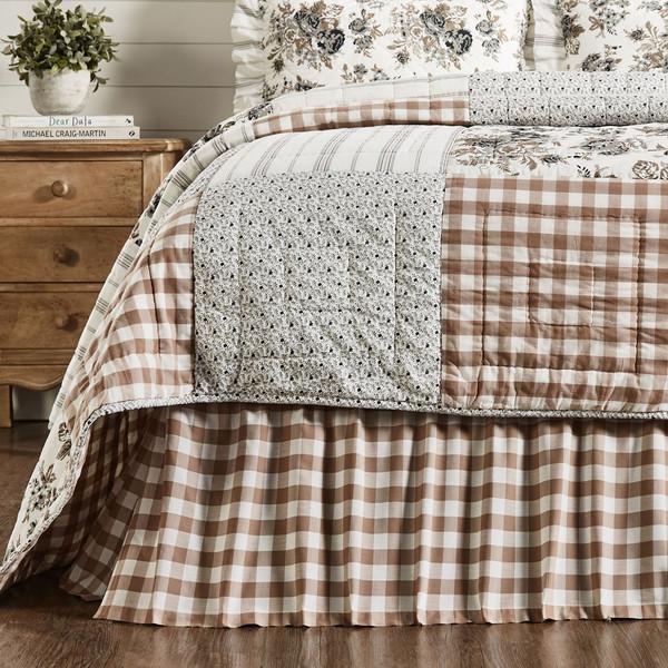 Annie Buffalo Portabella Check Bed Skirt