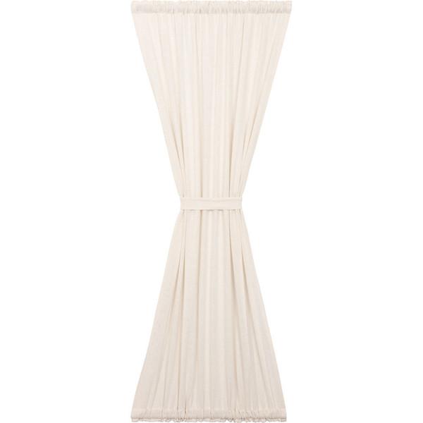 Burlap Antique White Door Panel Curtain