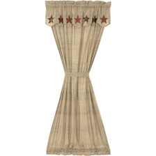 Abilene Star Door Panel with Attached Valance
