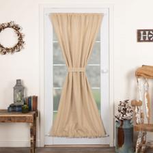 Burlap Vintage Door Panel Curtain