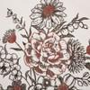 """Florette Floral Bouquet Ruffled Pillow 18"""" x 18"""" - Closeup"""