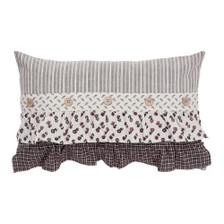 """Florette Ruffled Pillow 14"""" x 22"""""""