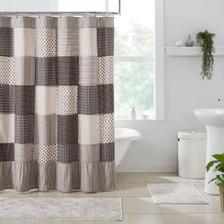 Florette Patchwork Shower Curtain