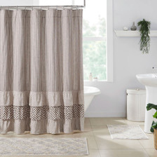 Florette Ruffled Shower Curtain