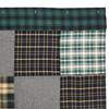 Pine Grove Patchwork Shower Curtain - Closeup