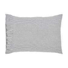 Sawyer Mill Black Standard Ruffled Ticking Stripe Pillowcase Set